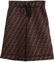 ff motif bermuda shorts