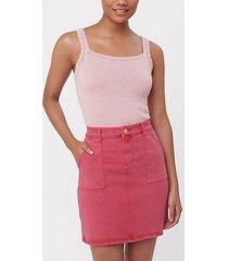 loft patch pocket denim shift skirt