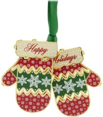 chemart holiday mittens ornament