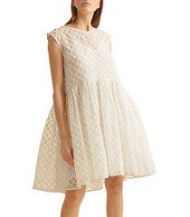3.1 phillip lim women's dawson cotton babydoll dress - off white - size xs