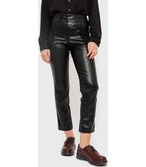 pantalón ash negro - calce ajustado