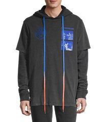 graphic hooded cotton sweatshirt