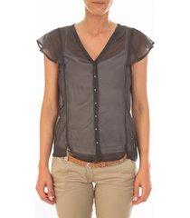 blouse vero moda chemisier agnes s/s shirt mix asphalt gris