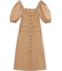 ripstop cotton chino dress in tannin