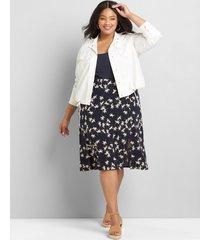 lane bryant women's a-line slip skirt 16 navy/white