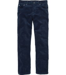 pantalone in velluto elasticizzato regular fit straight (blu) - bpc selection