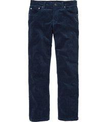 pantaloni in velluto elasticizzato regular fit straight (blu) - bpc selection