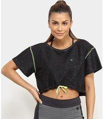 moletom cropped colcci fitness amarração feminino