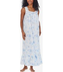 eileen west cotton lace-trim ballet nightgown