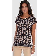 blouse amy vermont zwart::beige