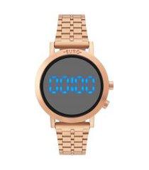 relógio digital euro feminino - eubj3407act4p rosê