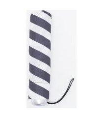 sombrinha feminina com listras | fazzoletti | branco | u