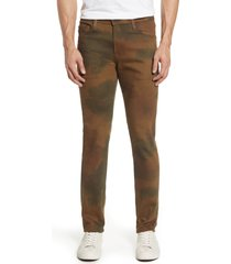 ag dylan extra slim jeans, size 38 x 34 in watercolor camo dried grass at nordstrom