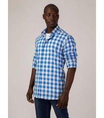 camisa social cabral do brasil voal manga longa masculina - masculino