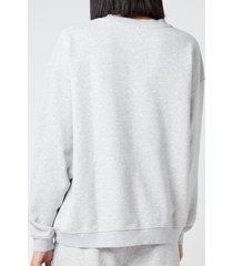 h2ofagerholt women's cream doctor 1 o'neck sweatshirt - grey melange - l
