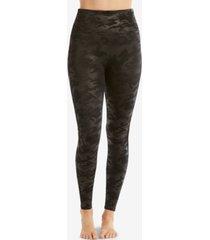 spanx camo faux-leather leggings