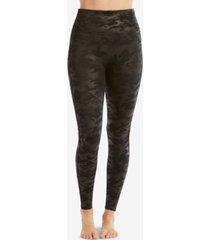spanx petite camo faux-leather leggings