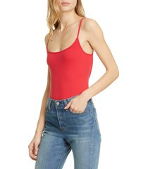 women's free people basique strappy sleeveless bodysuit, size x-large - red