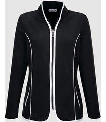 fleece vest dress in zwart::wit