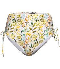 bikini buttoms plus print high waist tie bikinitrosa multi/mönstrad zizzi