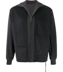 anglozine moseley corduroy zip jacket - grey