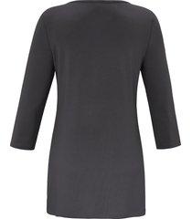 lang shirt met ronde hals en mouwen in 3/4-lengte van anna aura grijs
