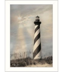 "trendy decor 4u cape hatteras lighthouse by lori deiter, printed wall art, ready to hang, white frame, 14"" x 20"""