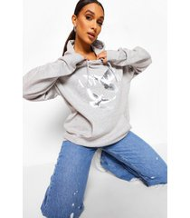 amour boyfriend hoodie met duiven, grey marl