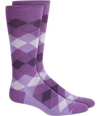 alfani men's diamond ombre socks, created for macy's