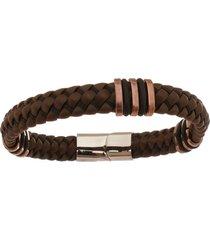 bracelete de aço inox tudo jóias com 12mm de largura rosê