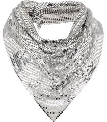 paco rabanne draped mesh necklace - silver