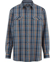 overhemd men plus marine::donkerblauw
