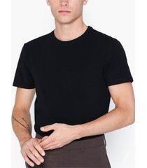 selected homme slhnewpima ss o-neck tee b noos t-shirts & linnen svart