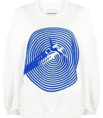 henrik vibskov swimming pool sweatshirt - white