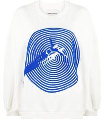 henrik vibskov swimming pool sweatshirt - white
