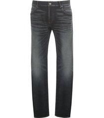 b geborduurde silm jeans-raw vintage