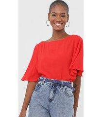 blusa forum lisa vermelha