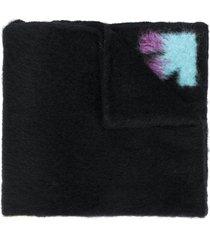 off-white oversized arrows scarf - black
