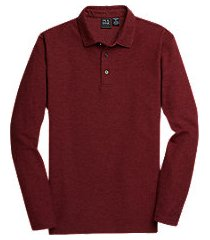 traveler collection traditional fit long sleeve pique men's polo shirt - big & tall clearance