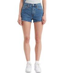 levi's women's 501 cotton high-rise denim shorts