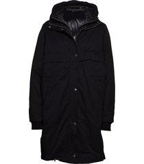 2nd try gevoerde lange jas zwart 2ndday
