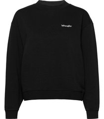 retro sweat sweat-shirt tröja svart wrangler