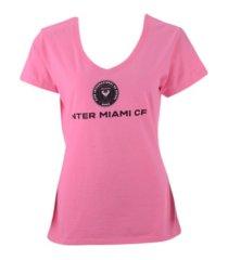 majestic inter miami women's basic logo t-shirt