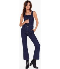 boiling point denim belted overalls