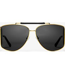 mk occhiali da sole nash - nero/oro (oro) - michael kors