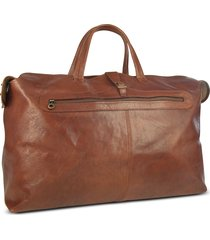 robe di firenze designer men's bags, large brown italian leather carry all travel bag