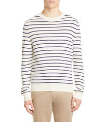 men's a.p.c. pull gaspard stripe wool sweater