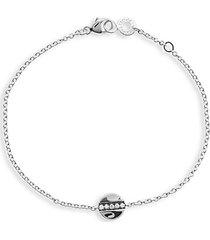 senso 925 sterling silver & diamond mini disc bracelet