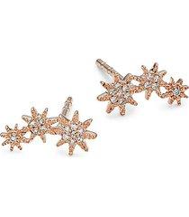 14k rose gold & 0.06 tcw diamond stud earrings
