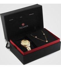 relógio technos 2015cbv/k4x dourado